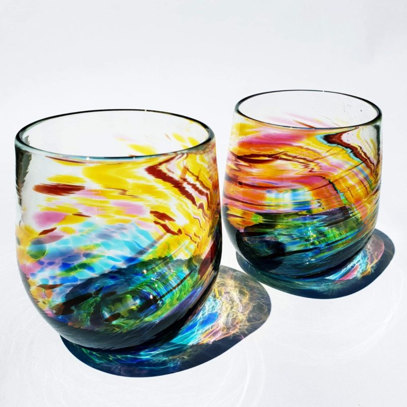 Art glass landscape by Gerry Reilly-16
