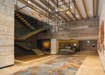 Intercontinental Hotel Perth Gerry Reilly Foyer installion Forest Drift 2
