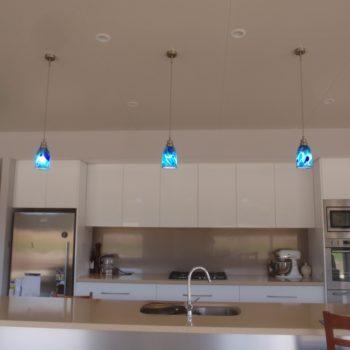 Ocean Pendant Lighting - island kitchen bench