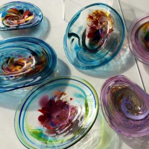 Art glass tableware by Gerry Reilly -26