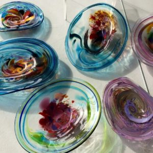 Art glass tableware by Gerry Reilly -37
