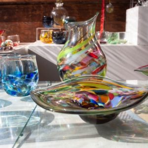 Art glass tableware by Gerry Reilly -53